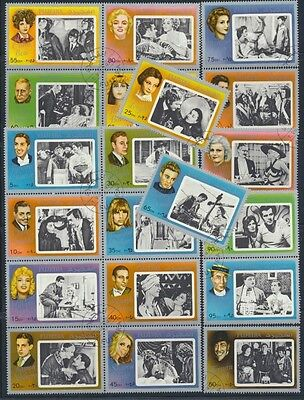 Classic Hollywood Movie Stars 1972 Complete Set of 20 Multicolor Singles