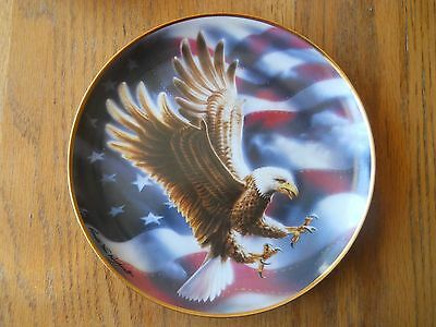 THE AMERICAN EAGLE LIMITED EDITION COLLECTOR PLATE FRANKLIN MINT