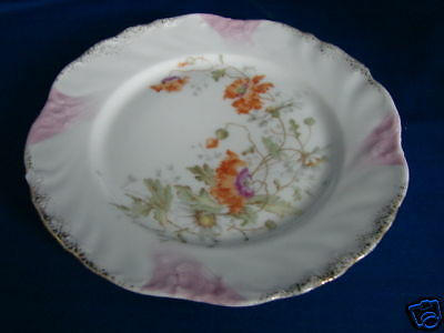 "Vintage KPM  Orange Floral plate made in Germany 5 3/4"" porcelain ceramic"
