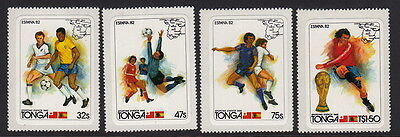 TONGA: 1982 World Cup Football set SG809-12 unmounted mint
