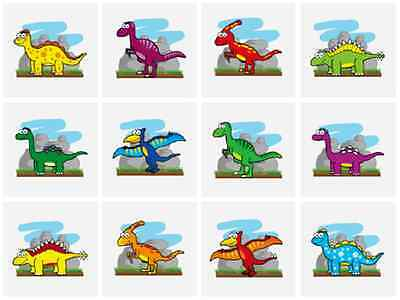 48 x Childrens Boys DINOSAUR Temporary Tattoos Transfers N51 033