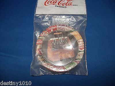 1999 Coca Cola Tin Coaster Set New in Package