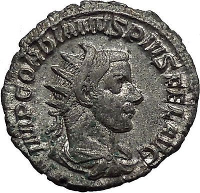 Gordian III 239AD  Silver Ancient Roman Coin Fortuna Luck Cult Wealth   i45050