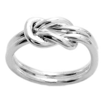 925 Sterling Silver Cute Love Knot Symbol Ring Size 5-9