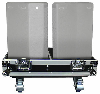 "ProX X-QSC-K8 Black Hard Travel Flight Case For 2 QSC K8 8"" DJ Speakers W/Wheels"