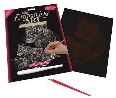 Engraving Art Set – Lioness and Cub – Copper Foil by Royal and Langnickel