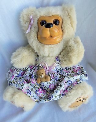 AUTOGRAPHED Robert Raikes Morning Glory dress Bear 11""
