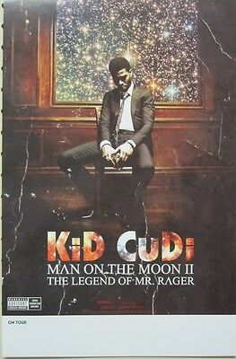 Kid Cudi 2010 Man On The Moon 2 Sided Promotional Poster ~New~Mint Condition~!