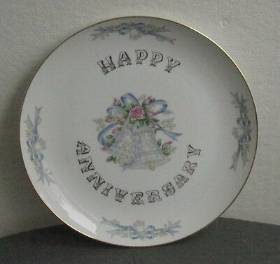LEFTON CHINA HAND PAINTED ANNIVERSARY PLATE DISH PLATTER CENTERPIECE VINTAGE