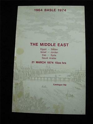 ROBSON LOWE BASEL AUCTION CATALOGUE 1974 THE MIDDLE EAST with EGYPT ISRAEL IRAQ