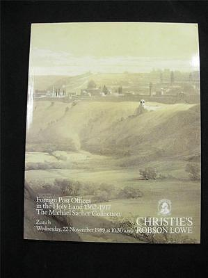 Christie's Robson Lowe Auction Catalogue 1989 Foreign Post Offices In Holy Land