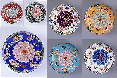 94mm Chinese cloisonne jewelry case statue