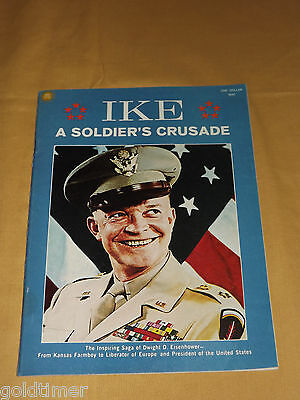 Vintage Wwii Dwight Eisenhower 1969 Ike A Soldier's Crusade Booklet