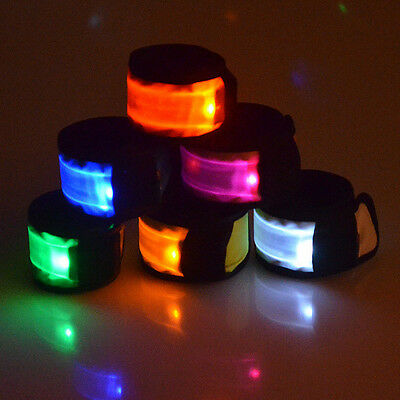 LED Flashing Armband Party Wristband Bracelet Light Night Glow Multi Colors