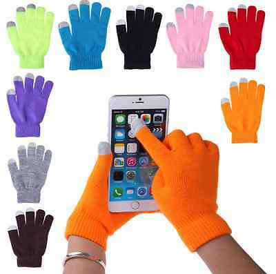2015  Unisex Women Men Touch Screen Soft Cotton Winter Gloves Warmer Smartphone