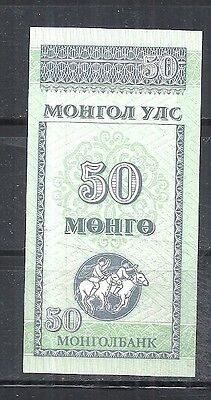 Mongolia #51 1993 Uncirculated-Unc Mint 50 Mongo Banknote Bill Note Currency