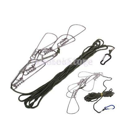 Fish Fishing Catch Stringer Locking Lock Snap Hook Line Tackle Accessory Travel