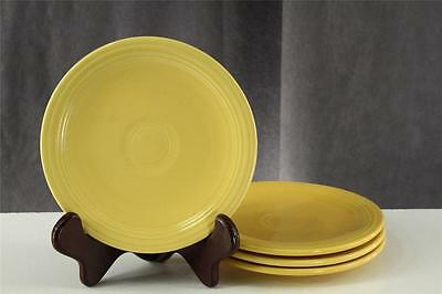 """Vintage Pottery Homer Laughlin Fiesta 4PC Bread Plates 6.25"""" Bright Yellow Older"""