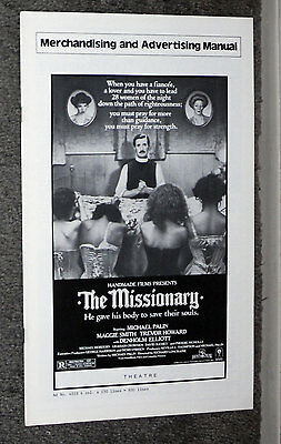 THE MISSIONARY original pressbook MICHAEL PALIN/MAGGIE SMITH/DENHOLM ELLIOTT