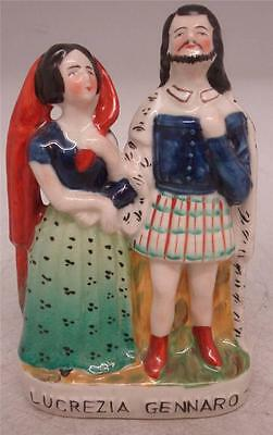 Staffordshire Pottery Pair of Figures - 'Lucrezia Gennaro' - Shakespeare Play
