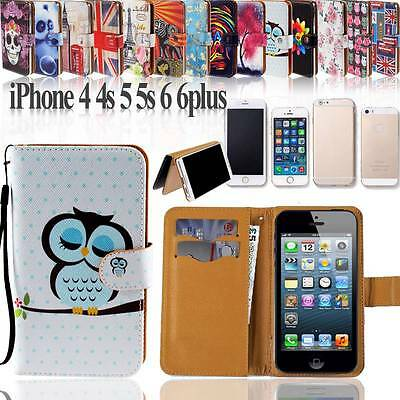 Folio Flip Wallet Card Stand Leather Case Cover For Various Apple iphone itouch