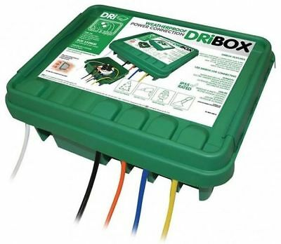 Dribox Large Green Weatherproof Box Outdoor Cable Connection Junction Protection