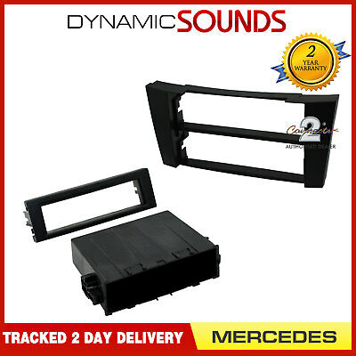 CT24MB23 Car Stereo Single Din Fascia Panel Black For Mercedes E Class