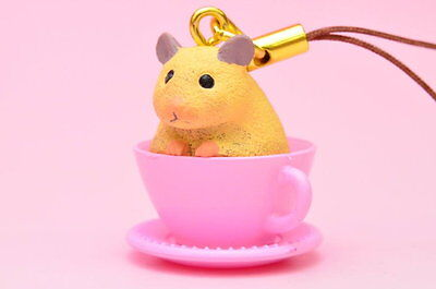 Takara Tomy Animal in Cup Strap Forest Tea Party Golden hamster #B Figure