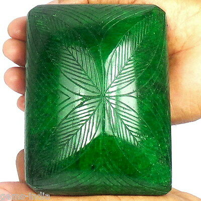 4530 Cts Stunning Green Rare Huge Museum Size Hand-Carved Unique Natural Emerald