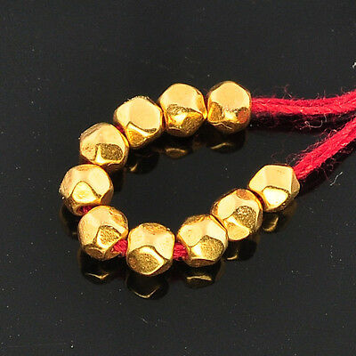 2.5mm 18k Solid Yellow Gold Nuggets Findings Beads (10)