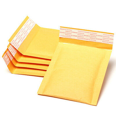 2~20pcs Small Gold Bags Kraft PaperEnvelopes Self-Seal Bags Padded 110x130MM