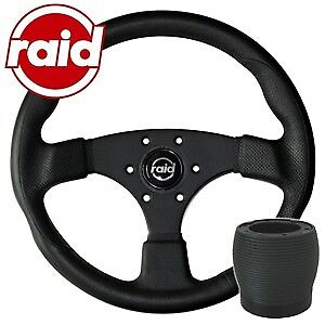 raid Sportlenkrad mit Nabe - 340 mm - BLACK EDITION - VW Polo 86C + Scirocco