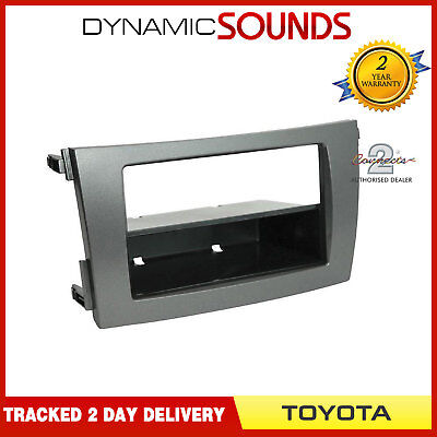 CT24TY50 Car Stereo Double/Single Din Fascia Panel Grey For Toyota Corolla 2009>