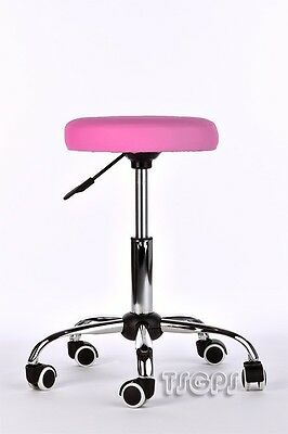 Massage Beauty Therapy Gas Stool Height Adjustable - PINK
