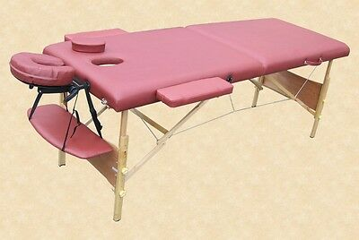 Portable Massage Table Reiki Beauty Couch Red