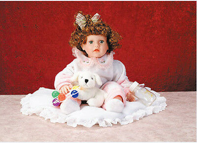 """Limited Edition Duck House Collectible Doll Vinyl MIB - 20"""" Annette w/ Blanket"""