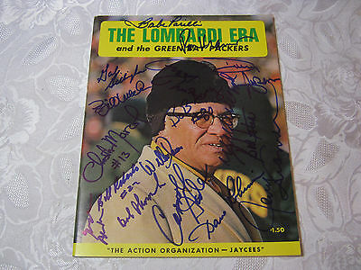 Autographed Green Bay Packers The Lombardi Era Program Jerry Kramer & More T*