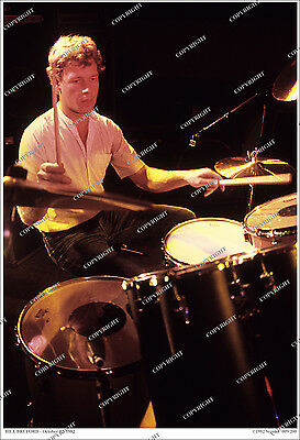 BILL BRUFORD King Crimson/Yes RARE CANDID 1982 REHEARSAL PHOTO 19x13 Limited Ed.