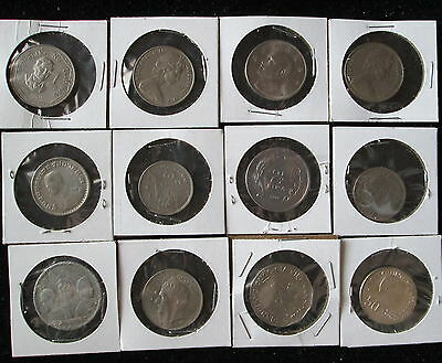 Lot of 12 Large FOREIGN COINS AND TOKENS*mixed collection (lot a)