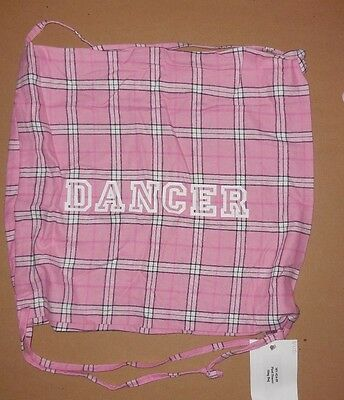 NWT Just Marvy Plaid Drawstring Backpack dance tote