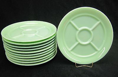 1 Fire King Jade-ite Jadite Heavy Restaurant 5 Part Divided Plate. G-311 MINT !!