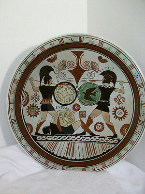 Vintage Collectors Plate, Handmade in Athens Greece, #137