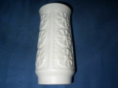 BAY ceramic W-Germany vintage VASE off white floral decor