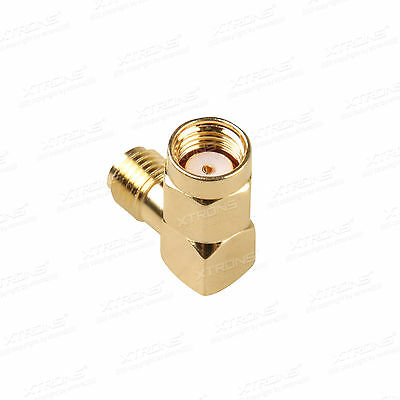 RP-SMA male Plug To SMA Female Jack 90 Degree right angle connector adapter UK