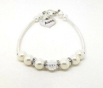 Personalised Mum Sister Niece Family Charm Bar Bracelet Free Gift Bag Wedding