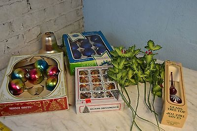 Vintage Lot 30 Vintage Christmas Ornaments-Poland,USA Tree Topper Fast Shipping!
