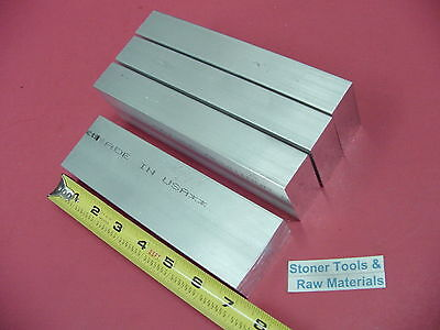 "4 Pieces 1"" X 2"" ALUMINUM 6061 FLAT BAR 7"" long Solid 1.00 T651 Plate Mill Stock"
