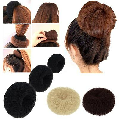 Girls womens Sponge Hair Styling Tool Bun Maker Ring Donut Shaper Hair Styler
