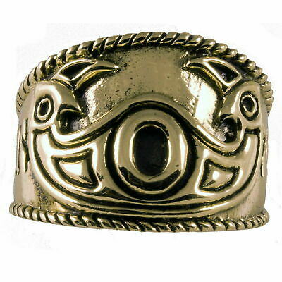 ODINS EYE Ring Wikingerring Bronze 52-60 Mittelalter Hugin u. Munin D:16,5-19,1