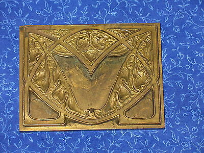 Antique Art Nouveau Bronze Mould Casting Of Acorn & Leaves Victorian Pattern